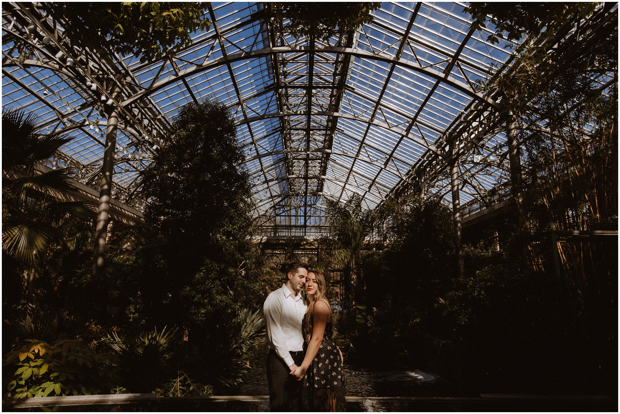Greenhouse Engagement Photos in Maryland