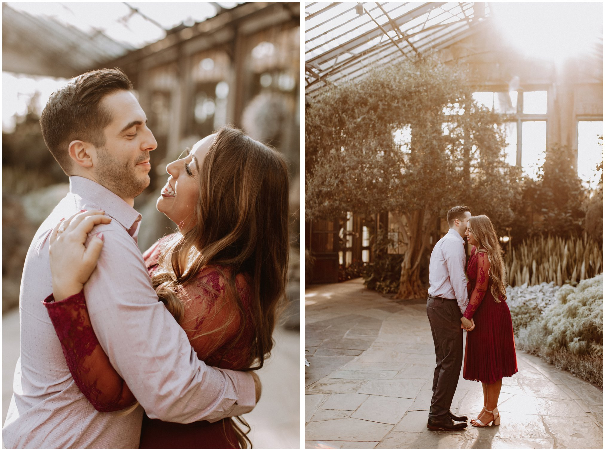 Sunset Greenhouse Engagement