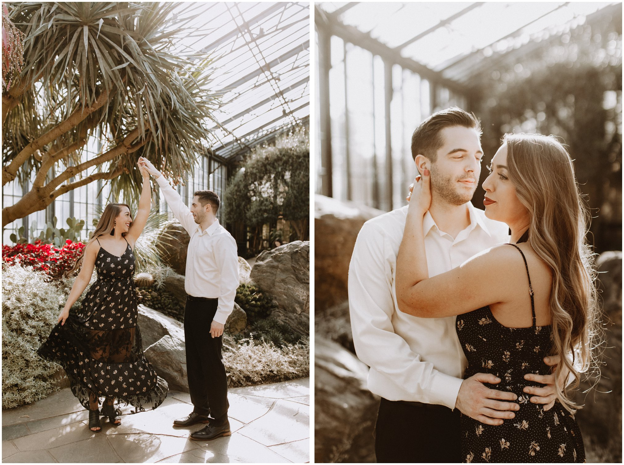 Bride and Groom Greenhouse Pictures