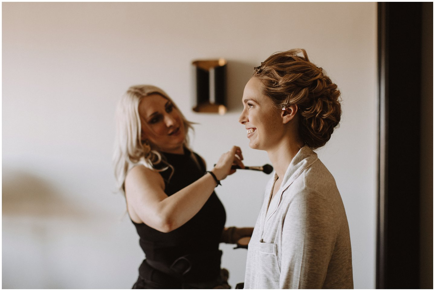 Bride getting ready photos by Maryland wedding photographer