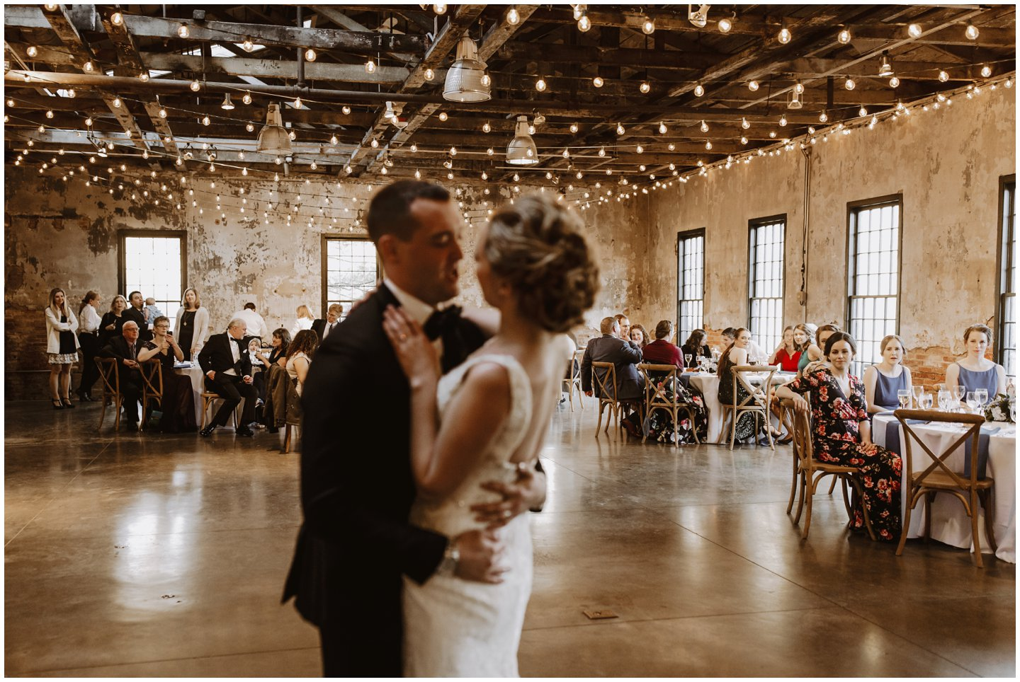 first dance under bistro lights