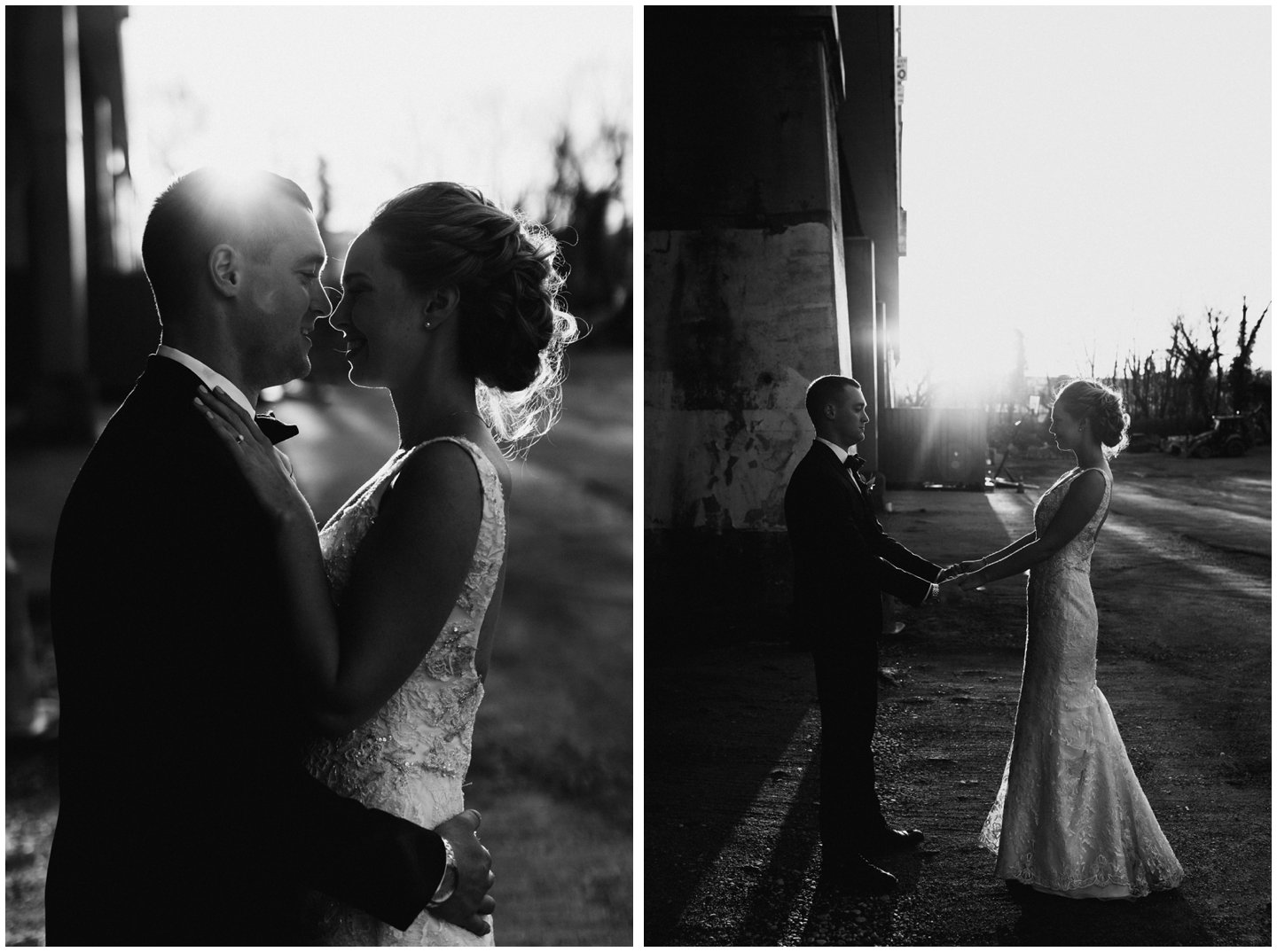 sunset wedding pictures