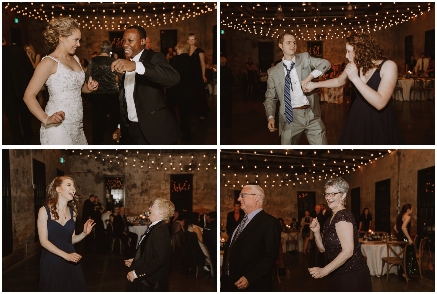 fun wedding reception dancing photos