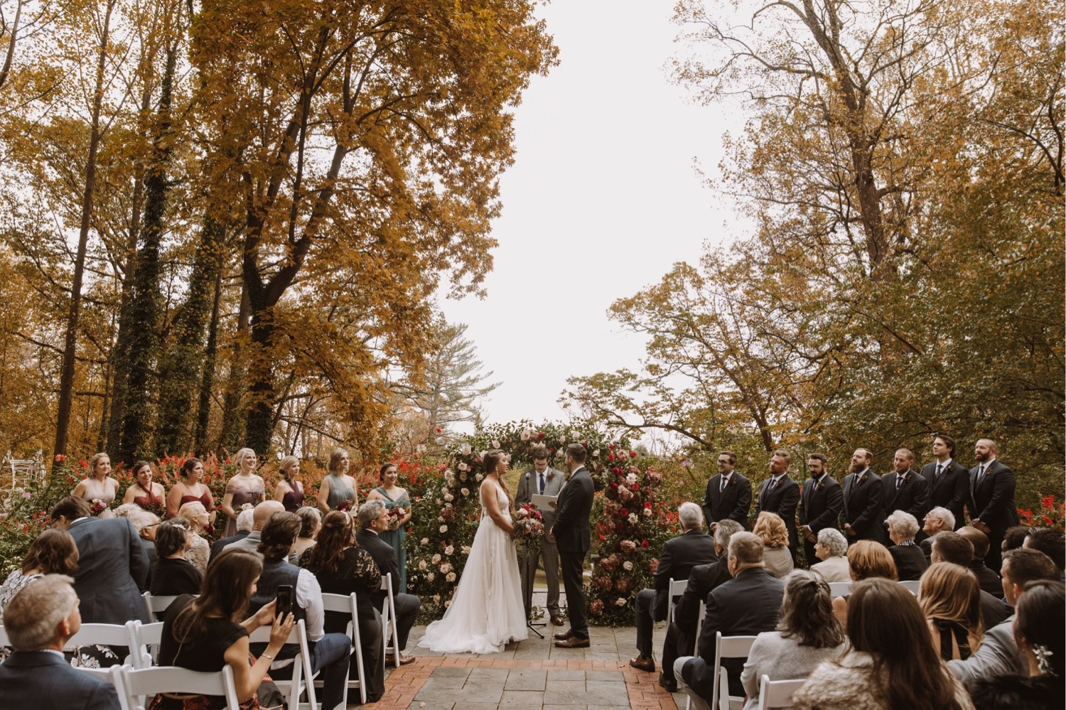 Bride and Groom Exchange Vows at the Gramercy Mansion Wedding Venue