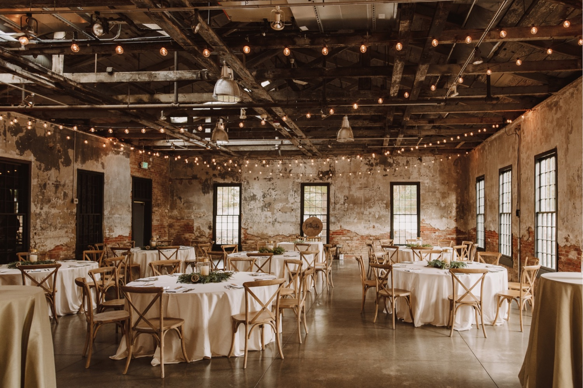 Mt. Washington Mill Dye House Wedding Reception Space