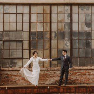 corradetti glassblowing-studio woodberry kitchen clipper mill baltimore wedding photo
